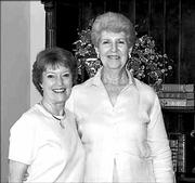 Gwen Dobson, president of the University Women's Club, and Janis Hutchison, president-elect, are shown in this July file photo.