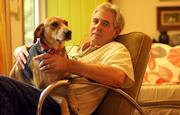 Jim McCrary, photographed with his dog Sarah, is one of a handful of local poets in the Lawrence issue of Black Spring. He came to the city in 1965 and fell in with a writing community that still thrives today.