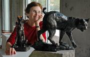 Sculptor Catherine Hale Robins' work is part of the fifth annual Lawrence Own-Your-Own art show and sale. Twenty percent of the proceeds from sales will go to the Bert Nash Community Mental Health Center. The show opens Saturday on the first floor of the Hobbs Taylor Lofts, 750 N.H.