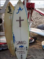 These boards belong to Christian Surfers, which reflect their faith and values.