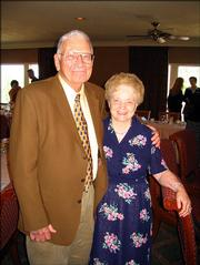 Ray and Marian Wilbur, Lawrence, celebrate receiving the Lawrence Board of Realtors' Humanitarian Contribution to the Community Award. The Wilburs, retired teachers who spent 40 years in the Lawrence school district, were honored for continuing to volunteer through Lawrence Memorial Hospital, Bishop Seabury Academy, Audio Reader, Meals on Wheels and other programs. They were honored during a reception Sept. 20 at Lawrence Country Club.