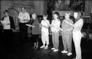 Members of the Motet Singers, of Lawrence, perform in Washington National Cathedral&#39;s crypt chapel of St. Joseph of Arimathea. From left are Su Johnson, Ken Blair, Polly Miranda, Mary Glasnapp, Dee Blaser, Pat Blair and Becky Lord. They performed before a Kansas State Day service Aug. 21 at the cathedral. The Motet Singers, a 16-member ensemble, is directed by Dave Grisafe. The group is celebrating its 30th anniversary.