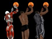 "Nice drawers, dude. This composite for 2K Sports&squot; ""NBA 2K6"" for the Xbox 360 shows the skeletal and cloth simulation technology designed by Visual Concepts."