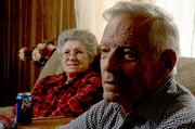 Bob Cumpton participated in today's Journal-World poll and believes that both creationism and evolution should be taught in school. With him in their Lecompton home is his wife, Jo.