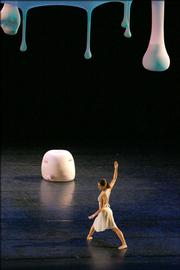 Dancer Jennifer Goggans performs an excerpt from &quot;Views on Stage.&quot; The dance will be on the program when the Merce Cunningham Dance Company performs Tuesday night at the Lied Center.