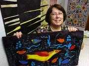 Linda Frost, who makes mixed media textiles, is among more than 50 artists in this year's Lawrence ArtWalk, a self-guided tour of area artists' studios.