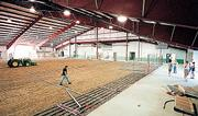 The community building at the Douglas County 4-H Fairgrounds is shown as it nears completion in 2000. County commissioners will study the fee structure and reservation schedule for the building, which is in high demand for all types of public and private events.