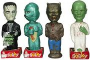 This terrifying quartet of 10-inch plastic monsters sold for $728 at the September Morphy auction in Denver, Pa. That's a nice price for four old bubble-bath bottles.
