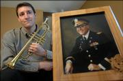 "Lawrence resident Curtis Marsh was disappointed when, at the military funeral of his father, Curtis N. Marsh III, pictured at right, ""Taps"" was played on a tape recorder. Now Marsh volunteers to perform ""Taps"" at military funerals, playing on a trumpet that his great-uncle used in a military band in World War II."
