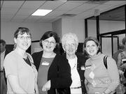 From left, Margie Lang, Susan Ralston, Gail Griffin and Debbie Pitts attend Trinity Episcopal Church's 10th annual Progressive Dinner. The Oct. 16 event was attended by more than 100 people.