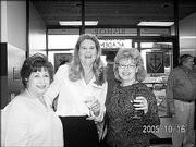 From left, Fifi Paden, Ellen Wolfe and Lynn Segebrecht attend Trinity Episcopal Church's 10th annual Progressive Dinner on Oct. 16.