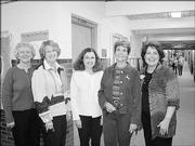 Sunset Hill School teachers attend the school's 50th anniversary celebration Oct. 6. From left are Valeita Williams, Sue Harker, Sally Larson, retired teacher Karen Heeb and Sue Hawley.