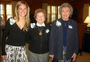 Kappa Kappa Gamma Alumni Assn. members and active member, from left, Annie Breitenbach, Gerry Smith and Alouise Brain attend the Fraternity's Founder's Day celebration on Oct. 22 at the Kansas University chapter of Kappa Kappa Gamma. Smith and Brain were recognized for 65 years of membership and received pins. Breitenbach was in charge of the festivities.