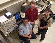 Center for Remote Sensing of Ice Sheets team members, including director Prasad Gogineni, left, David Braaten and Torry Akins, will soon be embarking on an expedition to the McMurdo research station on the Ross Ice Shelf in Antarctica.