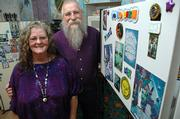 DaeRa and Don Graden will sell their quirky magnets and other artwork at the 16th annual Bizarre Bazaar Saturday at the Lawrence Arts Center, 940 N.H.
