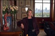 Author Patricia Cornwell, a specialist in forensic novels, poses in her home in New York.