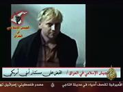 This image from the Arab satellite news channel Al Jazeera purports to show a kidnapped U.S. security consultant. The authenticity of the video could not be confirmed Tuesday.
