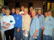 "From left, Lori Michel, Onas Waltho, Sally Brandt, Betty Parks, Trina Vincent, Norma Leary, Virginia Mach, Beth Reynolds, Aletha Beckman, Linda Longino and Barbara Gearhart help ""make a difference."" They helped clean the Lawrence Public Library on Make A Difference Day, which was Oct. 24. They represent Altrusa International Inc. of Lawrence, the Pilot Club and Federated Women."