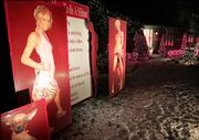 "Enlarged images of famed hotel heiress Paris Hilton appear on the front lawn of a home Thursday in Cranston, R.I. The display is the work of designer Joe Moretti, 38, and includes a list entitled ""How to Be a Hilton,"" complete with tips such as: ""An entrance is everything,"" ""NEVER wake before 10 a.m."" and ""NEVER spend the summer in NYC."" Poster at bottom left shows Hilton&squot;s Chihuahua, Tinkerbell."