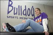 The Baldwin High training room has become a second home for Bulldogs senior Katelyn Miles during the last four years.