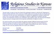 The Department of Religious Studies postcard.