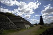 The pyramid Tepanapa in Cholula, Mexico, was built by the Cholulteca people during the centuries leading up to A.D. 850. For many years, Tepanapa was thought to be the largest pyramid in the world.