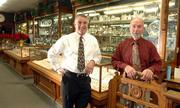 Marks Jewelers owners Rich Yeakel, left, and Brad Parsons are celebrating the downtown store's 125th year in business. The company is the 14th oldest independent jewelry store in the United States.