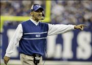 Indianapolis coach Tony dungy watches from the sideline during the Colts' game against San Diego on Sunday in Indianapolis. Dungy's 18-year-old son, James, was found dead Thursday.