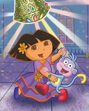 "Dora, the title character from Nickelodeon&squot;s popular pre-school animated series ""Dora the Explorer,"" dances with her sidekick, Boots. The series debuted in 1999."