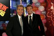 Dick Clark poses with Ryan Seacrest on New Year's Eve. Clark, the personality who's been ringing in the New Year for decades, made his first television appearance since a stroke in late 2004 during ABC's broadcast of the festivities in New York's Times Square.