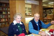 Edith Bogart and Stan Roth attend the annual luncheon for retired faculty and staff of Lawrence High School. The event was Dec. 7 at the school.