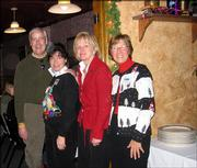 From left are Bill Lacy, director of the Dole Institute of Politics, his wife, Susie Lacy; Jean Bischoff, senior archivist at the Dole Institute; and Karen McCarthy, former congresswoman and Dole Fellow. They attended the Dole Institute's volunteer and student recognition luncheon Dec. 10 at Paisano's Ristorante in Lawrence. McCarthy was the keynote speaker.