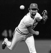 Reliver Bruce Sutter, shown pitching for St. Louis in this 1984 photo, was elected to baseball's Hall of Fame on Tuesday. Sutter was named on 76.9 percent of the ballots.