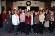 Members of the Express Network of the American Business Women's Assn. had a holiday luncheon Dec. 2 at Maceli's. From left are Roberta Richey, Shannon Abrahamson, Laura Tiffany, Connie Ingle, Carol Hester, Jenny Hohman, Betty Markley, Dee Bisel, Kendra Hatfield, Bobette Puderbaugh, Audrey Taylor, Connie Warkins, Janis Stewart, Dannette Umholtz, Gina Pacumbaba-Watson, Lisa Johnson, Sarah Klingele and Peggy Leslie.