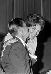 California Gov. Ronald Reagan and his wife, Nancy