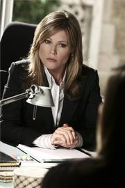 "In Tuesday&squot;s episode of ""Boston Legal"" written by Lawrence native Corinne Brinkerhoff, attorney&squot;s Denise Bauer (Julie Bowen), above, and Shirley Schmits (Candice Bergen) defend a teenage girl who was brutally raped, is now pregnant and wants to sue the Catholic hospital that refused to give her emergency contraception."