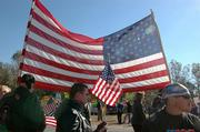 Members of the Patriot Guard, a group of motorcyclists, veterans and others who help shield military funerals from the protest pickets of the Westboro Baptist Church, gather in front of the group led by Fred Phelps during the funeral for Cpl. Lucas Allen Frantz in Tonganoxie in this Oct. 27, 2005, file photo.