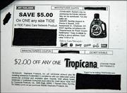 Bogus coupons have been circulating by email offering money off of popular household items such as Pepsi, Oil of Olay and Tide. While the bar codes on the coupons work they are not authentic company coupons.