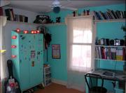 "Another view of Chesney Buck&squot;s room that allowed her first in the ""Room that rock"" contest."