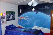 Another view of Bradley Lechtenberg's Star Wars room.