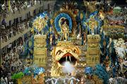 Dancers perform during Vila Isabel samba school parade at the sambodrome in Rio de Janeiro, Brazil, Monday, Feb. 27, 2006.