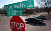 Two of the top three areas in Lawrence where drivers are ticketed for speeding are in the 2000 and 2100 blocks of Massachusetts Street. Police attribute that to several factors, including their focus on patrolling the city's entryways and their efforts to protect residential traffic entering and exiting on Massachusetts. Another high-ticket area in 2005 was West Sixth Street on the west edge of town.