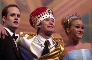 """Chris Allen, Greyson Clymer and Abbey Murray act Friday in the production """"CinderEllie"""" in the 57th annual Rock Chalk Revue, which concluded Saturday night at the Lied Center."""