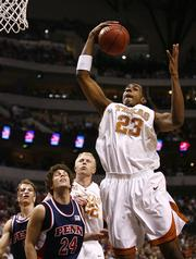 Texas sophomore forward LaMarcus Aldridge is projected to be one of the top picks in this summer's NBA Draft.