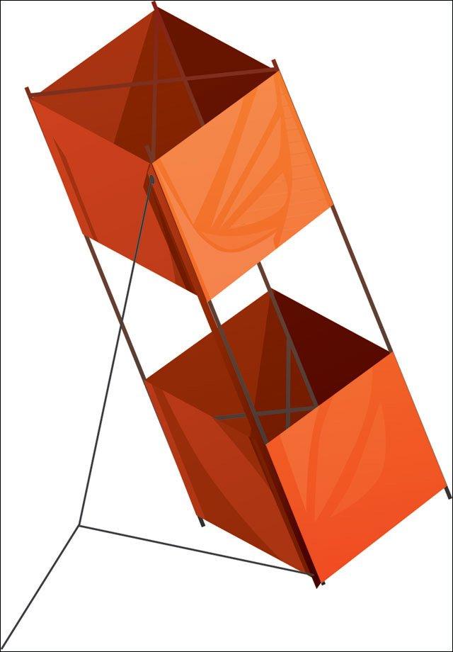 Photo: Box Kite- Three-dimensional kite with four parallel struts and ...: www2.ljworld.com/photos/2006/apr/03/77990