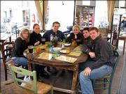 KU juniors pictured from left to right: Kelly Russel, Lauren Renz, Richard Young, Abby Kiger, Ross Sanders, Brian Votava