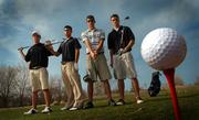 High school golfers Nick Burkhart, Free State junior, left, Adam Davis, Bishop Seabury senior, Levi Oxford, Lawrence High senior, and Andrew Bartlow, Veritas Christian senior.