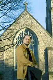 "LHS grad BART EHRMAN, pictured in front of the Chapel of the Cross, in Chapel Hill, N.C., has gained a lot of attention in recent months with his 19th book, ""Misquoting Jesus."" The book is seventh on this week&squot;s New York Times best-seller list for hardcover nonfiction, and Ehrman recently was a guest on ""The Daily Show with Jon Stewart."""