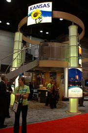 The Kansas Bioscience Authority built a two-story pavilion for the BIO 2006 conference this week in Chicago to promote the state as a welcome place for life sciences companies.