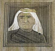 Earthwork artist Stan Herd plows a two-acre portrait of Sheikh Maktoum bin Rashid al-Maktoum, of the United Arab Emirates, who died in January. The artwork, just outside of Lawrence, was created by the manipulation of soybean stubble and plowed earth with the addition of crushed limestone, wood chips and sunflower seeds.
